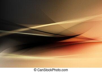 orange, schwarz, abstrakt, rotes , wellen