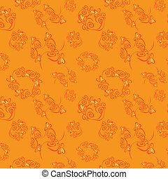 Orange seamless background, vector,