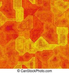 Orange seamless circuit board