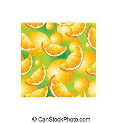 orange, seamless, fond