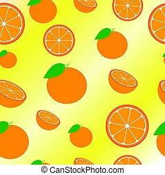 Orange Seamless Pattern Background