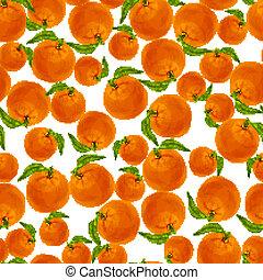Orange seamless pattern