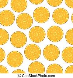 Orange seamless pattern vector.