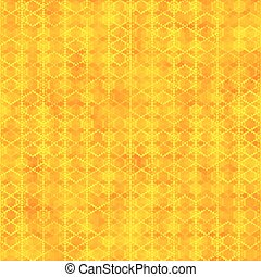Orange seamless pattern with hexagon shapes