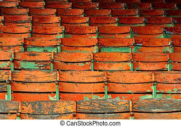 orange seats