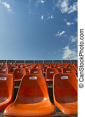 Orange Seats with numbers