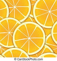 orange, segments, seamless, fond