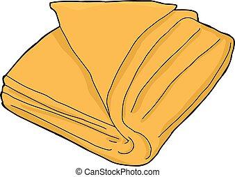 orange, serviette, isolé