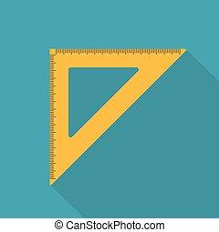 orange setsquare icon- vector illustration