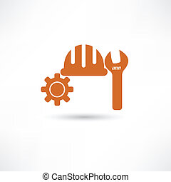 Orange setting icon