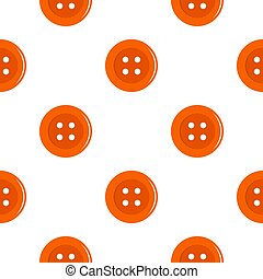 Orange sewing button pattern flat
