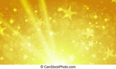 Orange shiny sparkling video animation with stars