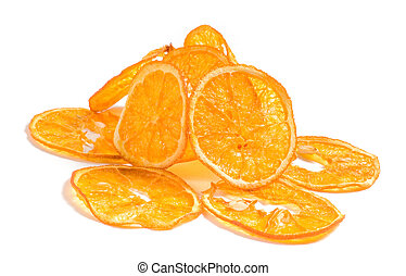 Shot of cuted oranges isolated on white