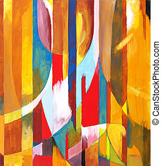 Orange Sided - an abstract painting