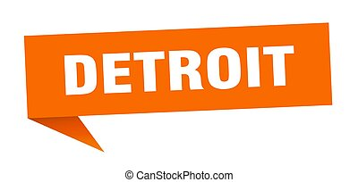 orange, signe, poteau indicateur, détroit, sticker., ...