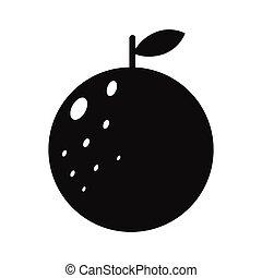Orange simple icon