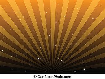 Orange sky lights