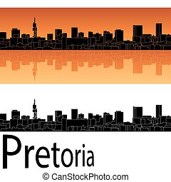 orange, skyline, pretoria, hintergrund