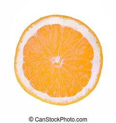 Orange Slice - A slice of orange x-rayed.