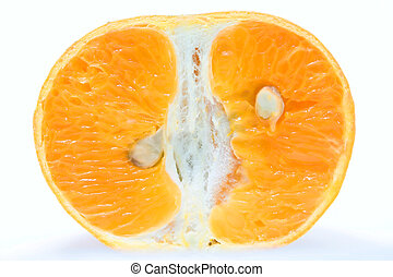 Orange Slice - A sliced orange ready to be eaten.