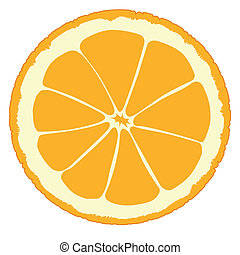 Orange Slice - An orange slice isolated over a white...