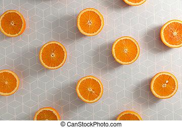 orange slice background concept