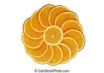 orange slice circle