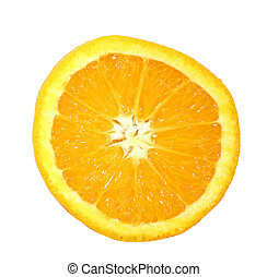 Orange Slice - Close-up of isolated orange slice