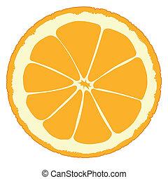 Orange Slice - An orange slice isolated over a white...