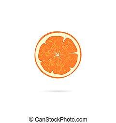 Orange slice icon vector isolated on white background