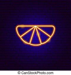Orange Slice Neon Sign