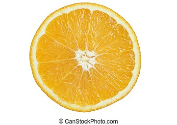 Orange slice on white background.