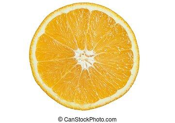 Orange slice on white background.