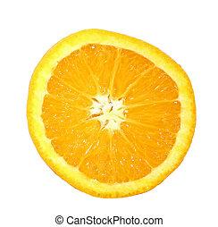 Orange Slice - Close-up of isolated orange slice