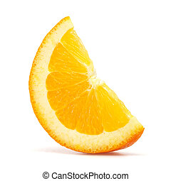orange slice with clipping path