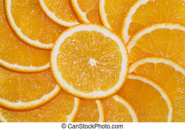 orange slices ornament