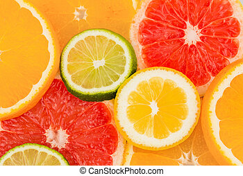 orange slices - slices of an orange. symbol photo for...
