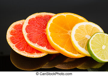 orange slices - slices of an orange. symbolic photo for ...