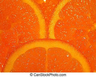 Orange slices - Three slices of orange