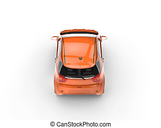 Orange Small Car