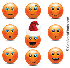 Orange Smiley Faces