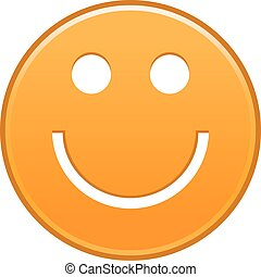 Orange smiling face cheerful smiley happy emoticon