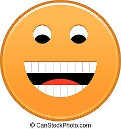 Orange smiling face cheerful smiley happy emoticon
