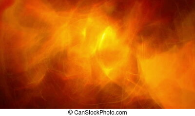 Orange smoke glowing