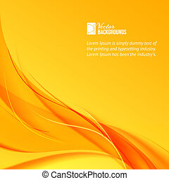 Orange smoke on yellow background. Vector illustration, contains transparencies, gradients and effects.