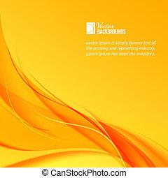 Orange smoke on yellow background. Vector illustration,...