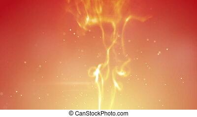 orange smoke swirls and sparks loopable