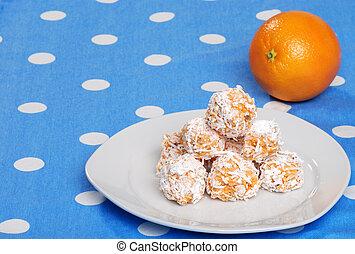 orange snowball cookies
