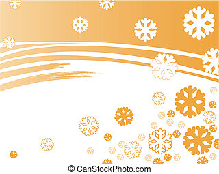 orange snowflakes