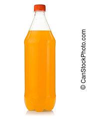 Orange soda bottle